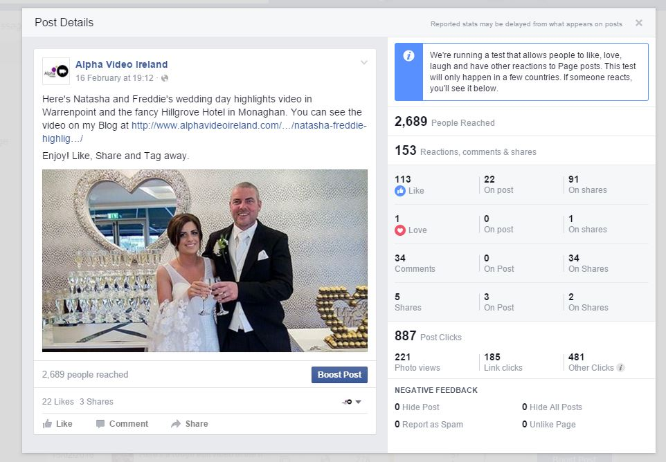 Facebook Trials Love, Like and Laugh on Pages