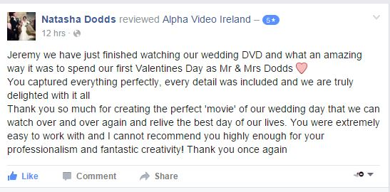 Freddie and Natasha's Wedding Video Review