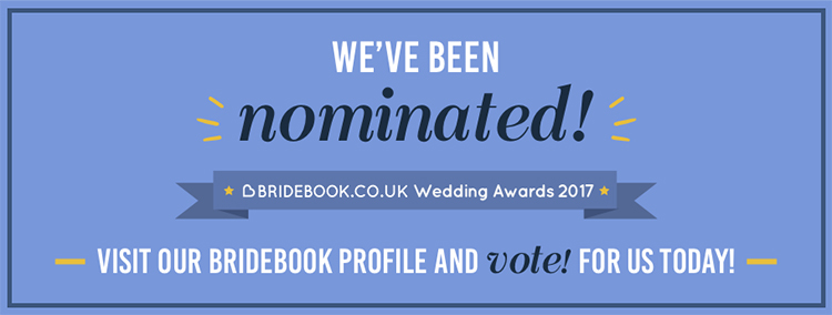 Nominated as Best Wedding Videographer at bridebook.co.uk