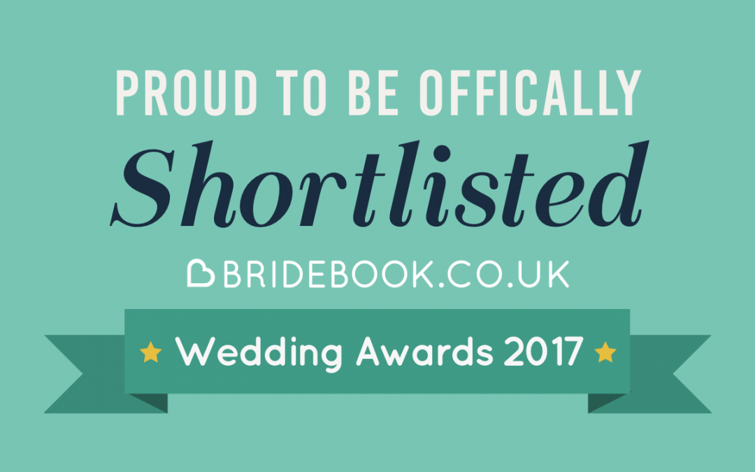 Shortlisted for Bridebook 2017 Wedding Awards