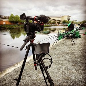 Filming at the Ulster Open Pairs Coarse Fishing Match