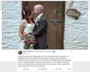 Brona & Alan's Wedding Facebook Review