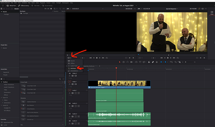 Creating Multicam Sequences With Multiple Audio Sources in DaVinci Resolve Using PluralEyes